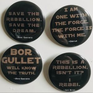 Accessories - Star Wars Rogue One Pin Back Badge Buttons